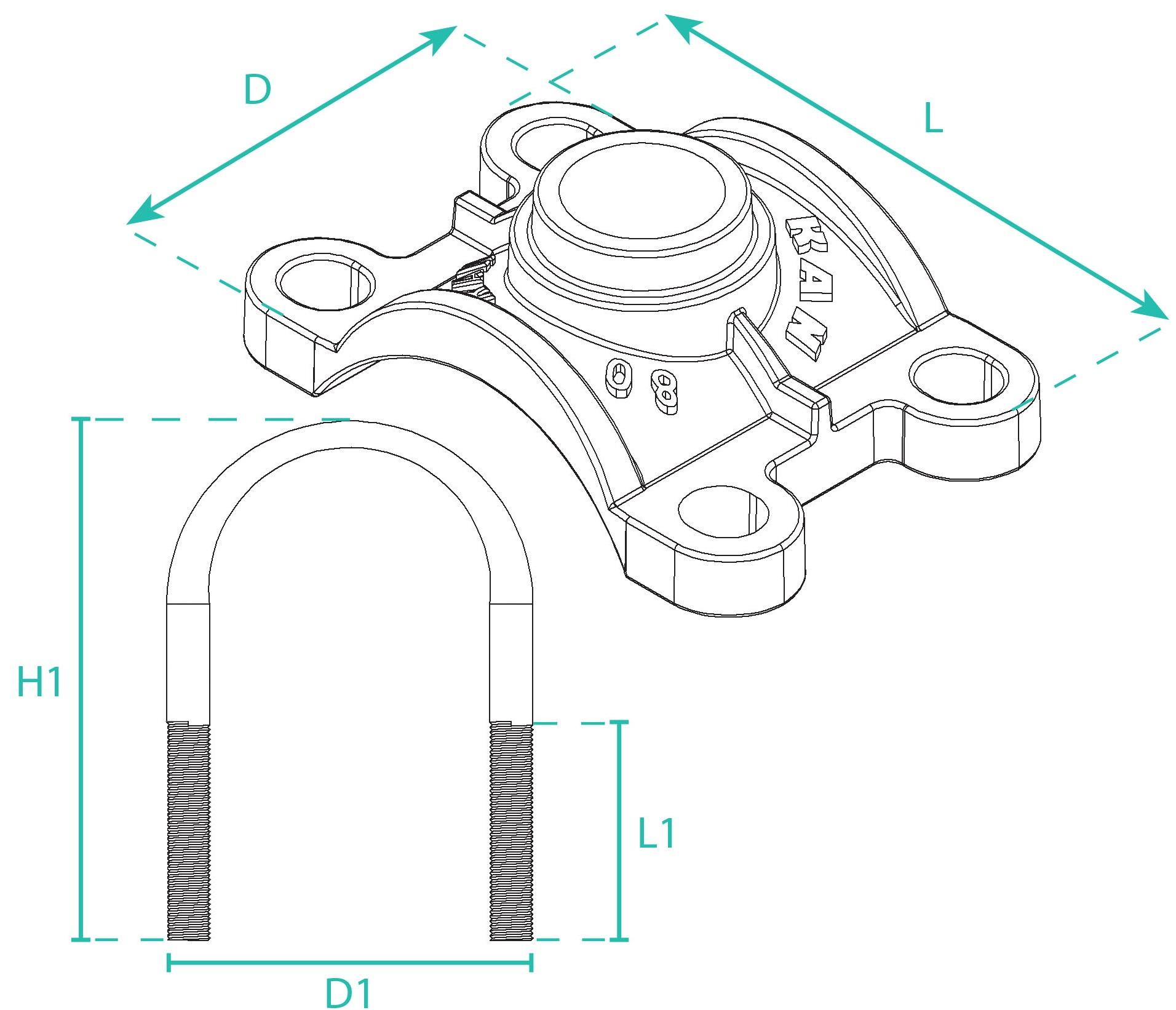 Service Clamp 2D Design